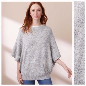 Lou & Grey Hazy Pocket Poncho Sweater M Cozy